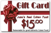 Jose&#039;s Real Cuban Gift Certificate